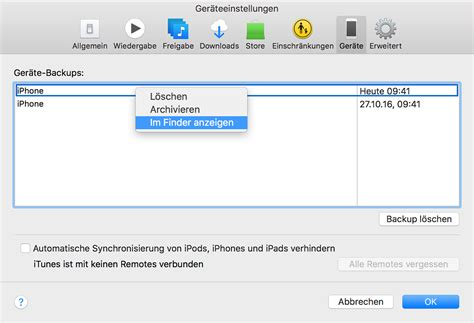 iPhone-, iPad- und iPod touch-Backups finden - Apple Support