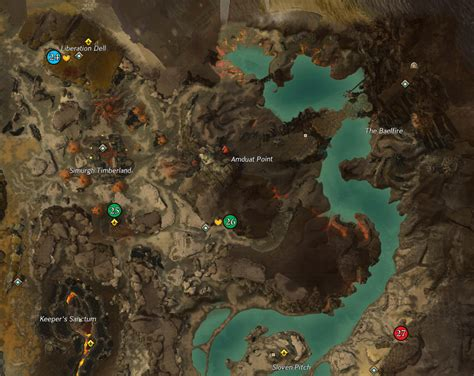 Guild Wars 2 Map Completionist • Click a section of map to
