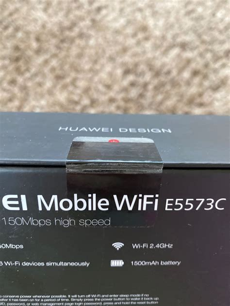 Huawei Mobile WiFi E5573C in CW4 Cranage for £25