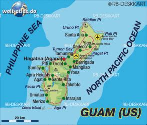 Map of Guam (USA) - Map in the Atlas of the World - World