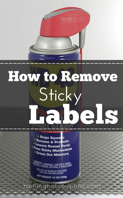 How To Remove Sticky Labels