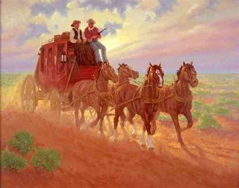 Stagecoach paintings