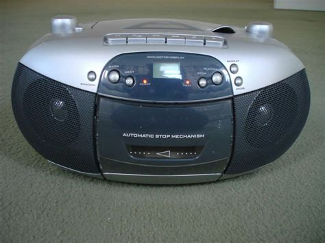 Asda Portable CD Player With Stereo Radio And Cassette