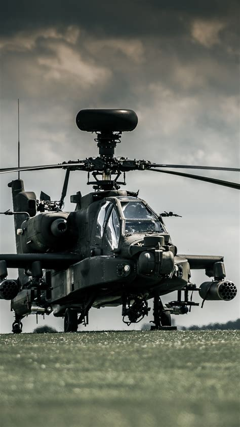 Wallpaper AH-64D Apache, attack helicopter, Royal Air