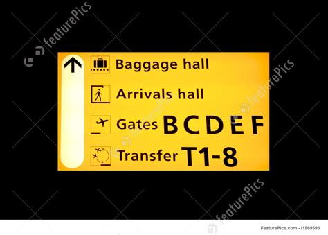 Airport Terminal: Airport Sign - Stock Picture I1869593 at