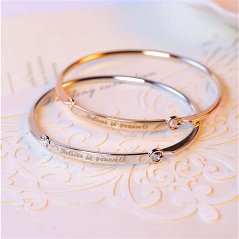 Personalized Initials Bracelets Bangles for Women Gift