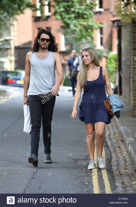 Russell Brand is spotted walking with Laura Gallacher