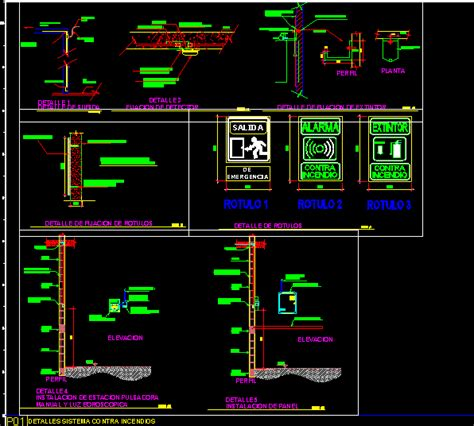Fire system in AutoCAD | CAD download (981