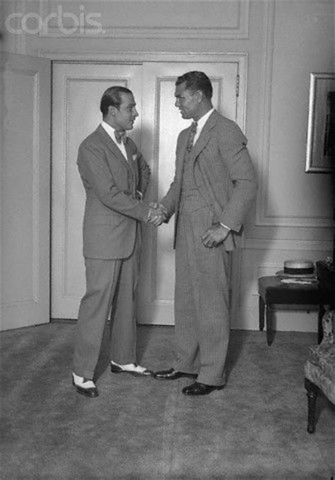 Jack Dempsey and Rudolph Valentino Shaking Hands | Rudolph