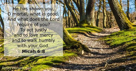 Micah 6:8 - Bible verse of the day - DailyVerses
