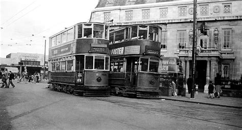 London Trams at Wimbledon 1950 by Norman Hurford   Scanned
