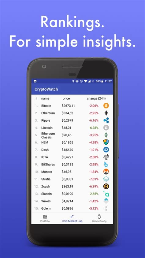 CryptoWatch – The cleanest Android Wear crypto ticker
