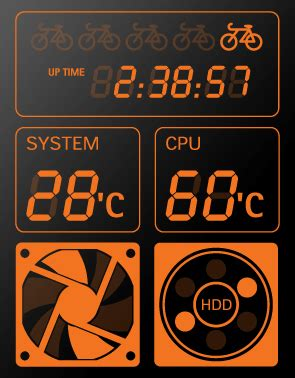CPU temperature monitor with LCD for computer case | smart